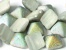 Pyramid beads 2-hole 12 x 12 mm